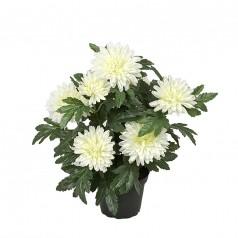 Chrysanthemum - Hvid - Kunstig potteplante