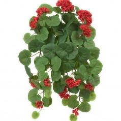 Hængepelargonie rød - Kunstig potteplante