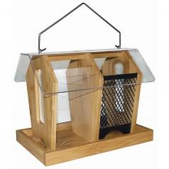 Fuglefoderautomat Bambus Double