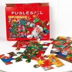 Jule puslespil 24 brikker