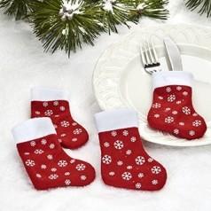 Mini julesokker til bestik - 4 stk