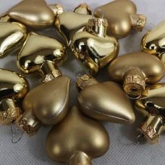 Dekorationshjerter Guld - Til ophæng