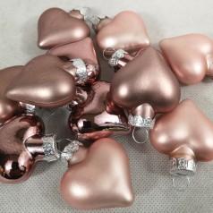 Dekorationshjerter Bronze