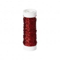 Bouillontråd 0,3mm 25g Rød