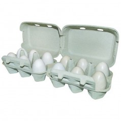 Ægbakke pap m/ låg til 2x6 æg