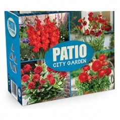 Blomsterløg Mix - Patio City Garden Red - 40 løg