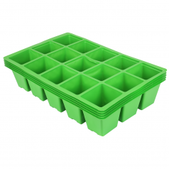 Priklebakker 5 x 15 huls bakker - Grøn