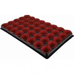 40 runde potter i bakke