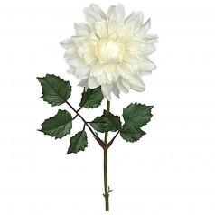 Kunstig dahlia stilk 45 cm. hvid