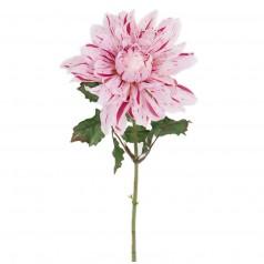 Kunstig dahlia stilk 45 cm. rosa