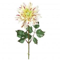 Kunstig dahlia stilk 45 cm. lilla/hvid