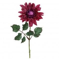 Kunstig dahlia stilk 45 cm. mørk lilla