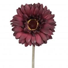 Kunstig gerbera stilk 55 cm. ø10 cm. mørk lilla