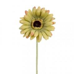 Kunstig gerbera stilk 55 cm. ø10 cm. oliven