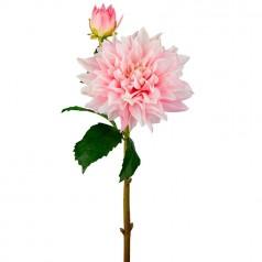 Kunstig dahlia stilk 70 cm. lys rosa