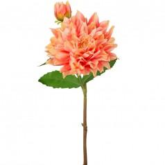 Kunstig dahlia stilk 70 cm. abrikos