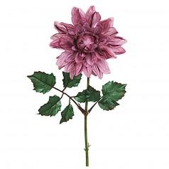 Kunstig Stilk Dahlia 45 cm. lilla