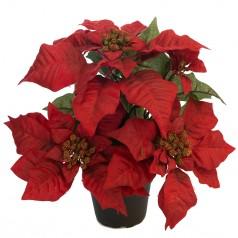 Kunstig julestjerne 35 cm. rød