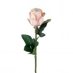 kunstig rose stilk 50 cm. lys rosa