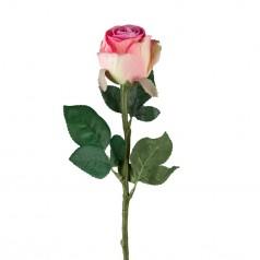 kunstig rose stilk 50 cm. rosa