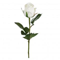 kunstig rose stilk 50 cm. hvid