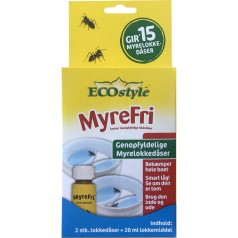 MyreFri genopfyldelige lokkedåser 2 stk