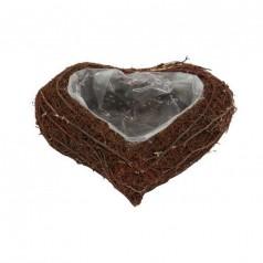 Hjerte Skål Natur L25 H8