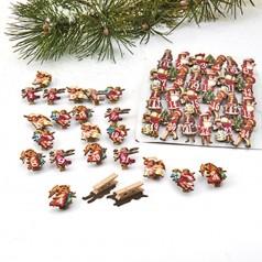 24 jule træklemmer med dato