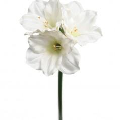 Kunstig Amaryllis stilk, 65cm hvid