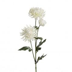 Kunstig chrysanthemum stilk, 60cm hvid