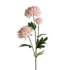 Kunstig chrysanthemum stilk, 60cm rosa