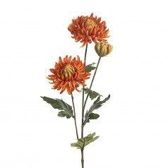 Kunstig chrysanthemum stilk, 60cm orange
