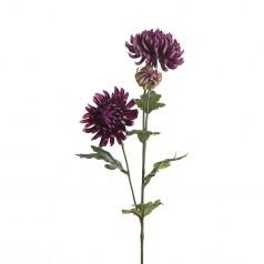 Kunstig chrysanthemum stilk, 60cm lilla