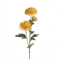 Kunstig chrysanthemum stilk, 60cm gul