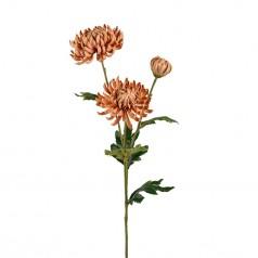 Kunstig chrysanthemum stilk, 60cm karmel