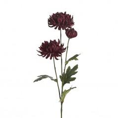 Kunstig chrysanthemum stilk, 60cm vinrød