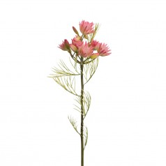 Kunstig blushing bride stilk, 50cm rosa