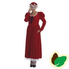 Julekone kjole med rød hue - Small
