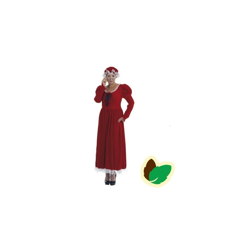 Julekone kjole med rød hue - Large