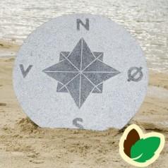 Kompassten - Grå Granit