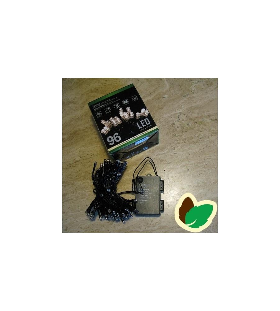 Lyskæde 96 LED - Ude/Inde batteriertil batterier