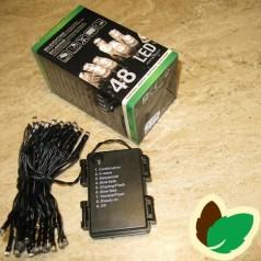 Lyskæde 48 LED - Ude/Inde batterier